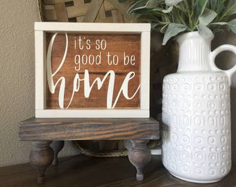 Its So Good To Be Home Sign, So Good To Be Home Sign, Home Decor, Wood Sign, Rustic Decor, Framed Sign, Farmhouse Decor, Farmhouse Sign