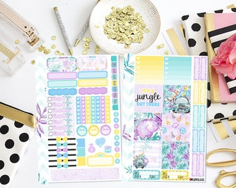 It's a Jungle Out There Mini Happy Planner Sticker Kit | Planner Stickers