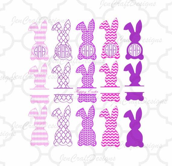Easter Bunny Monogram Frames Svg Easter Monogram Frames