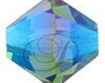 Swarovski Crystal Bicone Beads 5328 - 3mm 4mm 5mm 6mm 8mm - Fern Green AB 2X