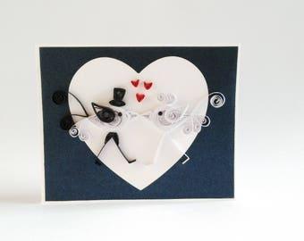 Card marriage brings money, wedding card money wallet, Paper Quilling Wedding Love Birds Card