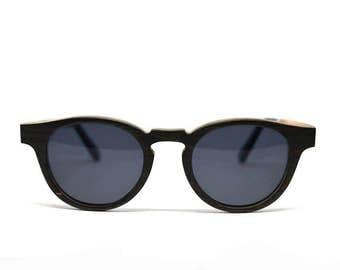 Wood Sunglasses Polarized Sunglasses Black Oak Keyhole Wooden Eyewear Eco Sunglasses Womens Sunglasses Mens Brown Lenses