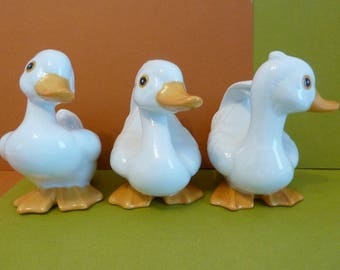 Homco, Quacky Trio, # 1414 on all, Made in Taiwan