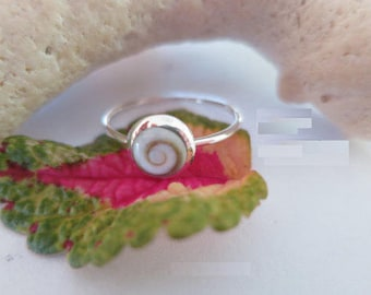 Shiva eye ring, size  8, set in 92.5 sterling silver,free shipping