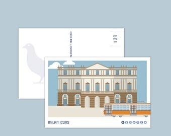 Milan Icons Postcard > La Scala