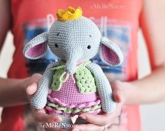 Cute ELEPHANT, crochet elephant, amigurumi elephant, baby gift, gift for kids, crochet toy, nursery decoration, baby shower gift