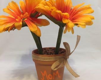 Moms Daisy Flower Pen Pot Gift
