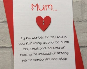 Personalised Handmade Birthday/Mothers/Fathers Day Card (Mum/Dad) Funny Novelty Quirky Fun