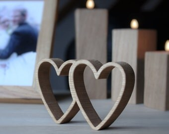 Unique Wedding Gift for couple - Wooden Hearts - Newlywed gift - Bridal shower - Wedding day gift