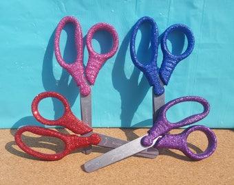 Glitter School Scissors, Pink Scissors, Blue Scissors, Red Scissors, Purple Scissors, Kid Scissors, School Scissors, Blunt Tip Scissors