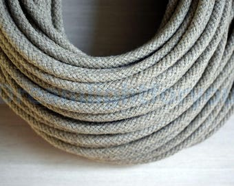 Linen Textile cable 1-25m (3-80ft) Flaxen Fabric Covered Wire Cloth covered wire Cloth cord Color cord Electrical cord Lighting cable