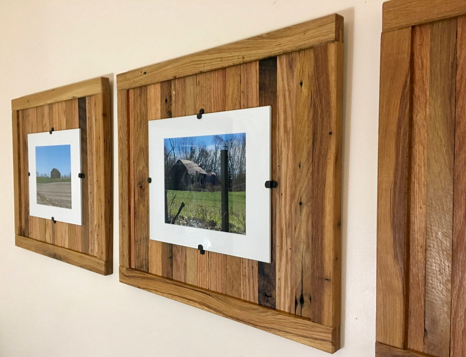 Rustic Wood Frames Reclaimed Wood Frame Set Of 3 8 X 10