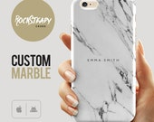 Custom Name Marble Phone case, personalised marble iPhone 6s case, iPhone 7, 6 Plus, 5C, 5S, SE case, personalized Galaxy S6, S7, S5  cover,