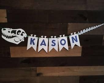 Dinosaur Skeleton Banner