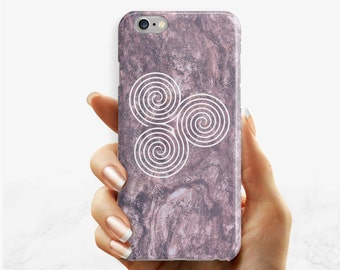 Marble Celtic phone case, iPhone 7 6 6s Plus phone case iPhone 5 5s SE phone case, Samsung Galaxy S8 Plus S7 Edge S6 S4 S3 marble phone case