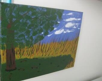 "Acrylic Painting- Original- 11"" x 14"" - Our Tree"