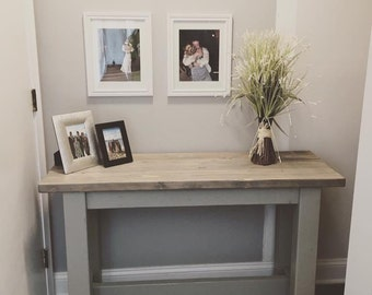 Farmhouse Style Console Table/ Entryway Furniture