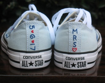Custom Wedding Converse, Custom Converse, Custom Chuck Taylors, Custom Bride Sneakers, Custom Wedding Shoes, Custom Chucks, Wedding shoes