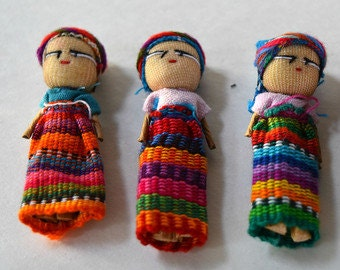 Worry Dolls in a Bag