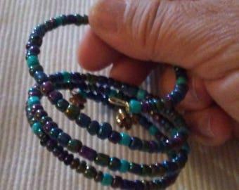 Bohemian wire bead bracelet