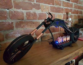 Motorcycle Chopper Nixie Clock 3D printed
