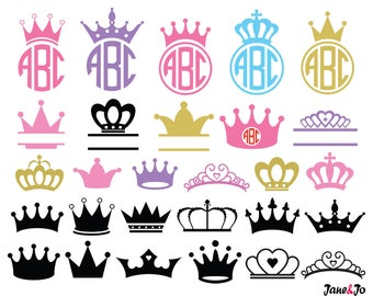 Crown Svg,Princess Crown Svg,Crown Monogram Svg,Crowns Svg,Crown clipart,Cricut Cut Files svg, Silhouette Cut Files svg,crown vector SVG DXF