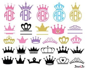 Crown Svg,Princess Crown Svg,Crown Monogram Svg,Crowns Svg,Crown clipart,Cricut Cut Files svg, Silhouette Cut Files svg,crown vector SVG DXF