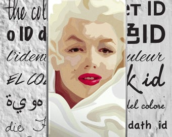 Marilyn Monroe - iPhone Case - iPhone 5/5s/SE - iPhone 6/6s - iPhone 6 Plus/6s Plus - iPhone 7/7 Plus - Abstract Art - Illustration