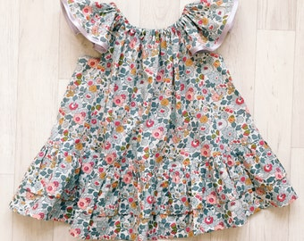 AVA Handmade Liberty of London Print Girls Butterfly Dress Party Bridesmaid