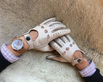 Women's Driving Leather Gloves Handmade Hungant Fashion Soft car glove