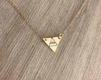 Dainty gold tribe necklace, girlfriends gift, bridesmaid gift, bridesmaid jewelry, best friend jewelry, teepee necklace, sister jewelry