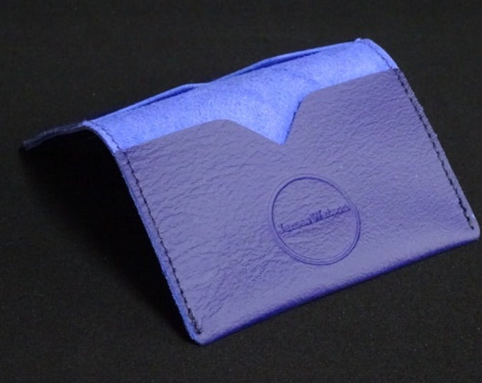 Bantam Wallet - Purple - Kangaroo leather with RFID Credit Card Blocking - James Watson
