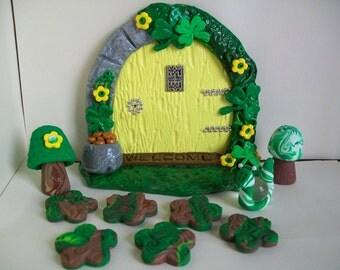 Irish Fairy Garden, Fairy Garden Kit, Fairy Garden, St.Patrick's Day, Handmade Fairy Garden, Fairy Door, Fairy Accessories, Fairies, Irish