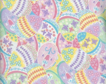 Packed Eggs Easter fabric 1/2 yard