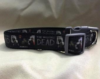 Walking Dead Dog Collar, Zombies, Darryl, TV, Apocalypse, 1 inch, 3/4 inch