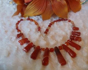 Agate orange 3-piece jewelry set statement jewelry