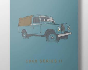 1968 Land Rover Series 2 print