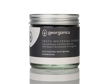 Activated Charcoal Powder - Georganics Natural Teeth Whitening Powder with Fine Grade Activated Charcoal