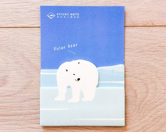 Cute sticky notes - polar bear #3 | Cute Stationery