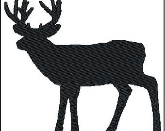 Deer Buck Embroidery Design 2 sizes