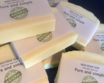 Pure and simple vegan soap