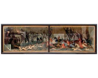 19th Century Fox Hunt Diorama