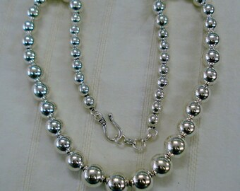 Traditional Design Sterling Silver Necklace Plain Bol necklace handmade jewellery