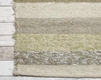 Neutral Rug. 120x160 cm (4' x 5'3) Bedroom area rug, Beige living room rug, Bedroom area rug , bohemian rug Handwoven Cotton | Washable.