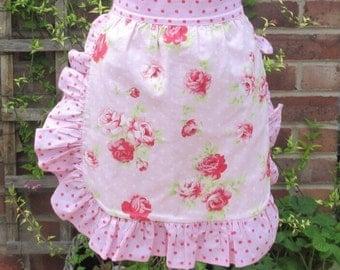 Handmade Vintage/Retro style half apron