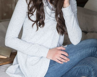 Limited Edition Speckled Cross Front Sweater