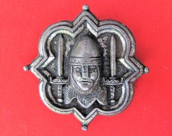 Tremendous Vintage 'Miracle' Knight and Swords Brooch