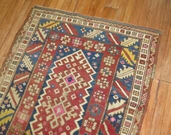 Vintage Turkish Oushak Anatolian Rug Size 3'5''x4'8''
