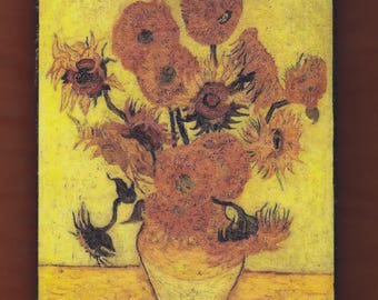 Van Gogh,Sunflowers F.457, replica of the 4th version, Sompo Japan Museum of Art, Tokyo, Japan.FREE SHIPPING