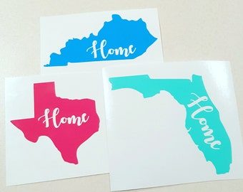 State Home Decal, Laptop Decal, Car Decal, Corkcicle, Yeti, Custom Made